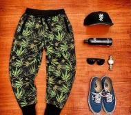 SUPREME 通販 偽物 シュプリーム Weed Sweatpant 総柄 スウェットパンツ メンズ レディース パンツ 春夏