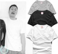 シュプリーム SUPREME Hanes Tagless Tees Tシャツ ホワイト ブラック グレー 半袖 クルーネック コットン 無地
