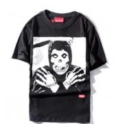 新品 シュプリーム SUPREME The Misfits Crimson Ghost Tee ミスフィッツ ブラック 半袖Tシャツ コットン スカル