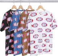 2017ss シュプリーム SUPREME 666 Tee 半袖tシャツ 人気 激レア プリント ブラック ホワイト 4色 総柄