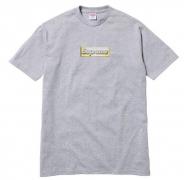 新品 SUPREME シュプリーム Bling Logo  Tee 半袖 ロゴTシャツ グレープリント クルーネック コットン 春夏新作