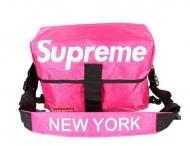 品質保証100%新品 NEW YORK x SUPREME ボックスロゴ ニューヨーク x シュプリーム ピンク色 収納力 メンズショルダーバッグ.