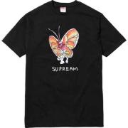 2016SS シュプリーム SUPREME Gonz Butterfly Tee ゴンズバタフライ 人気 半袖Tシャツ ブラック ホワイト グレー