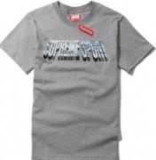 シュプリーム半袖Tシャツ メンズ SUPREME コットン 最安値人気 フルロゴプリント ホワイト グレー ブラック.