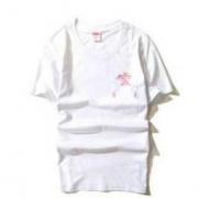 シュプリーム SUPREME ピンクパンサー ヘンリーネック Tシャツ ブラック、ホワイトカットソー 半袖 コットン .