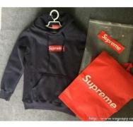 SUPREME シュプリーム Box Logo Pullover ボックスロゴ パーカー ネイビー、グレー、ブラック3色選択.