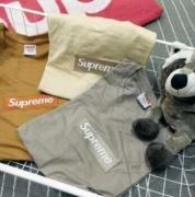 シュプリーム  Tシャツ Box Logo SUPREME ボックス ロゴ グレー、ブラウン、ホワイト3色選択 刺繍 コットン.