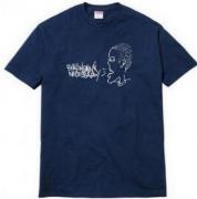 SUPREME t シャツ コピー シュプリーム Tシャツ ショートスリーブ ネイビー コットン生地 ストリート メンズ.