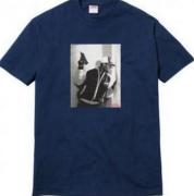 SUPREME シュプリーム 通販 コピー ショートスリーブ Tシャツ コットン生地 ネイビー メンズ ストリート.