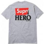 18SS SUPREME シュプリーム×ANTI HERO Pocket Logo Tee ポケット付き Tシャツ ショートスリーブ グレー.