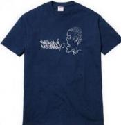SUPREME All Means Tee シュプリーム 半袖 Tシャツ メンズ ネイビー コットン生地 ストリート ファッション.