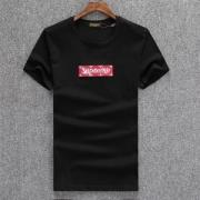 シンプル SUPREME LOUIS VUITTONコラボ半袖Tシャツシュプリームボックスロゴ丸首Tシャツ3色可選