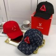 格好いい シュプリームルイヴィトコラボ ベースボールキャップSUPREME LV 帽子モノグラム3色可選