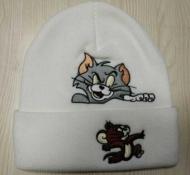 大特価! シュプリーム通販激安 ニットキャップ SUPREME TOM&JERRY 刺繍ニット帽2色可選