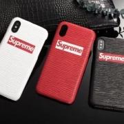 超レアお洒落Supremeシュプリームボックスロゴコピーユニセックスiphoneケース高品質レザー多色可選択