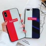 2018年ins最新supreme iphoneケース コピー iphoneX 携帯ケース 鏡面 滑らかな 光沢 オシャレ HOT人気新品 お得セール