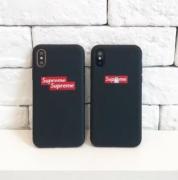 ★VIPセール★FASHION シュプリーム 人気 シンプル Supreme携帯ケース 偽物 iphoneXケース 耐衝撃 ブラック