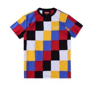 Tシャツ/半袖 2色選択可 ハイグレード  Supreme18FW Patchwork Pique Tee SALE  格好良い人気定番