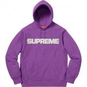カラバリ豊富 多色選択可 パーカー  Supreme 18FW Perforated Leather Hooded Sweatshirt 存在感拔群